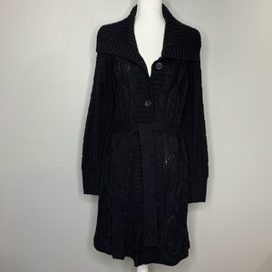 St. John's Bay black belted cable knit sweater